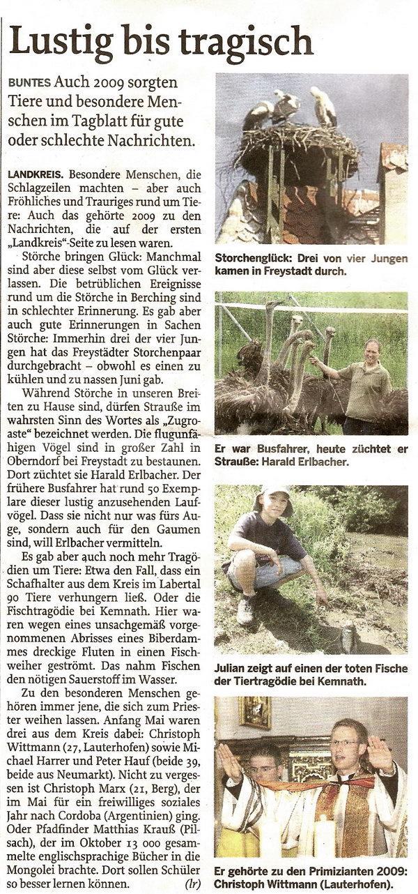 Neumarkter Tagblatt vom 29.12.2009